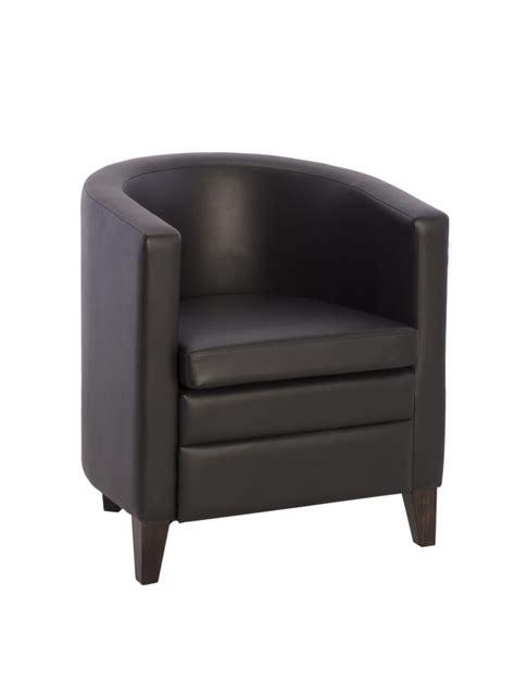 fauteuil simili cuir design pour reception oregon noir