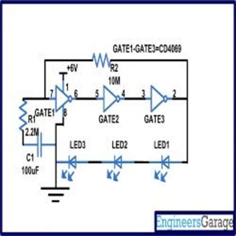 Circuit Diagram Led Torch by Cd4049 Based Led Torch Circuit Diagram Electronic