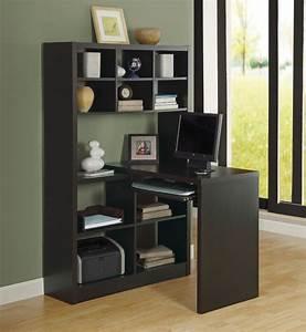 Cappuccino Hollow-Core Left Or Right Facing Corner Desk