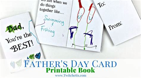 printable card  dads fathers day book twitchetts