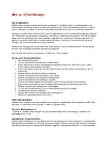office manager resume description office manager description recentresumes