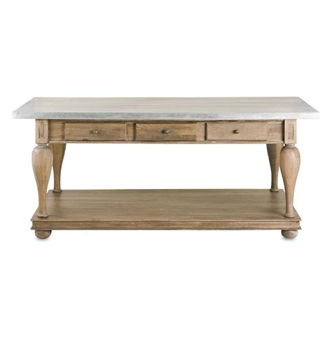 l tables french country balustrade antique walnut kitchen island console table l