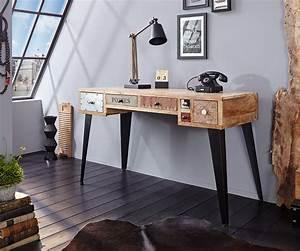Schreibtisch 130 Cm : schreibtisch himalaya 130 cm mango natur 6 sch be m bel tische schreibtische ~ Whattoseeinmadrid.com Haus und Dekorationen