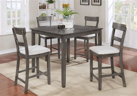 henderson grey pc counter height dinette set