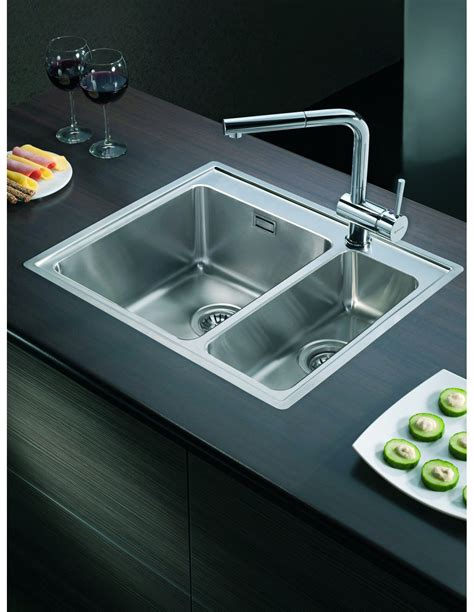 kitchen sink drainer topmount 1 5 bowl inset sink with tap modern square 2682