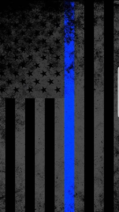 Thin Flag Cop American Line Wallpapers Cross
