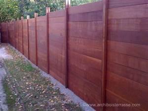 Panneau De Cloture En Bois : palissade et panneau cloture bois exotique sans ~ Premium-room.com Idées de Décoration