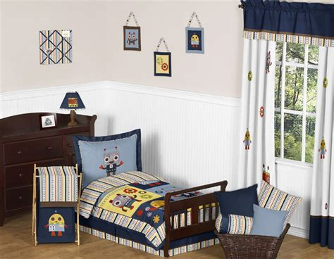 Robot Toddler Bedding Collection
