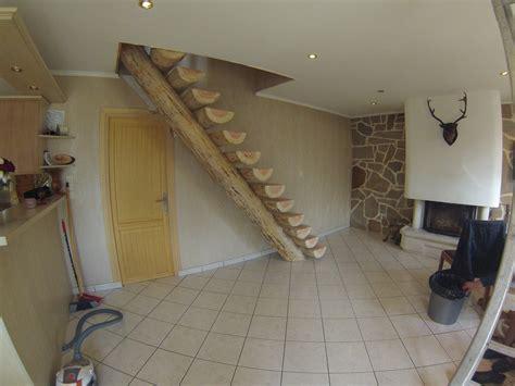 escalier en rondin de bois escalier fuste en rondins massifs les fustes normandes