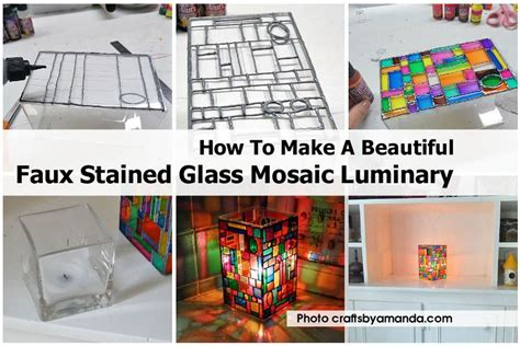 how to make a stained glass l how to make a beautiful faux stained glass mosaic luminary