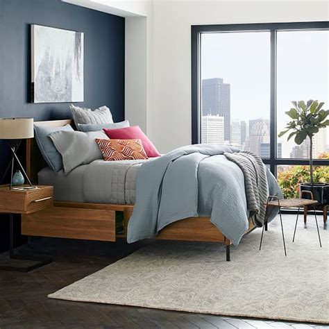 nash storage bed teak west elm