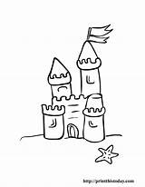 Coloring Castle Pages Printable Summer Sand Clip Beach Preschool Disney Printthistoday Castles Clipart Drawing Children Colour Flag Library Dot Colouring sketch template