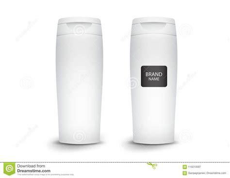 White Plastic Shampoo Bottle, Mockup Template, Product