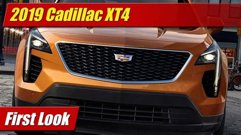 First Look 2019 Cadillac Xt4 Testdriventv