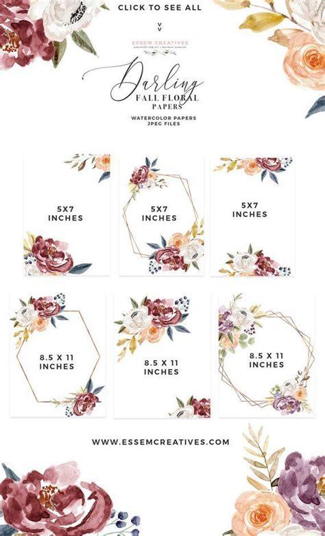 burgundy navy floral digital paper pack rustic