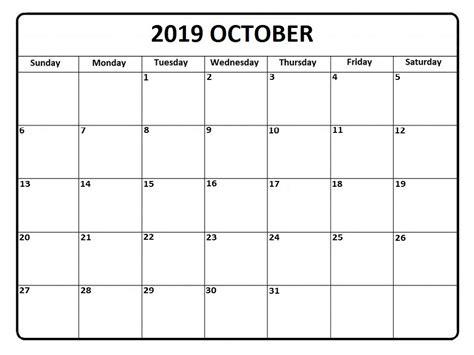 editable october  calendar printable blank wallpaper