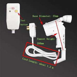 220v Ac Tankless Electric Water Heater Instant Bathroom Hot Water Heating Spray 313110534540