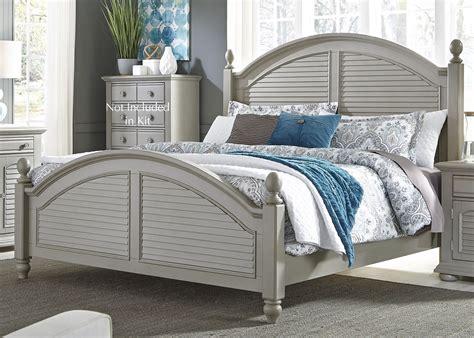 summer house ii gray poster bedroom set 407 br qps liberty