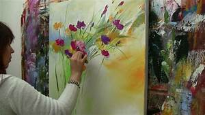 Abstract, Floral, Painting, Demo, Time, Lapse, Abstraktes
