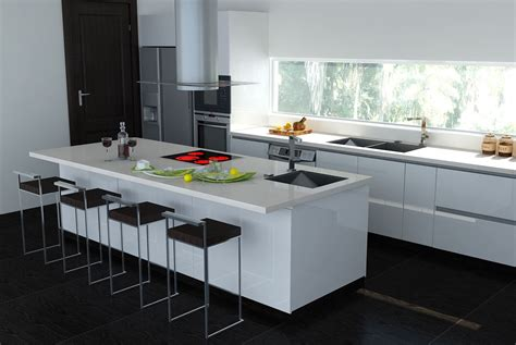 white kitchen with island 7 black and white kitchen island interior design ideas