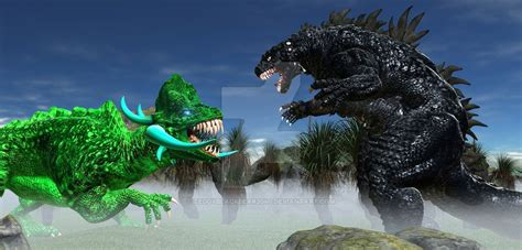 Godzilla Vs Carbozaran By Teddyblackbear2040 On Deviantart