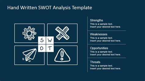 swot design matrix sketched  powerpoint slidemodel