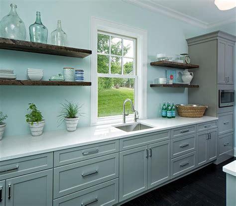 blue  gray kitchen pantry design ideas