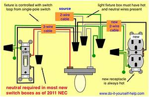 Wiring Diagram For Adding An Outlet From An Existing Light Fixture In 2019