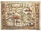 caribbean west indies decorative antique wall map