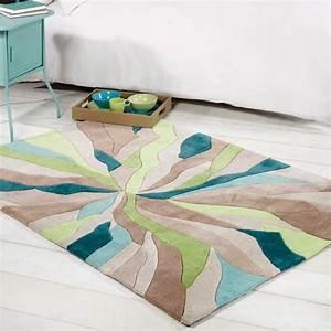 tapis design infinite vert par flair rugs With tapis vert canard