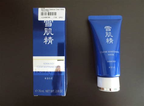 kose medicated sekkisei clear whitening mask review