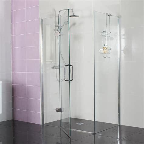 Frosted Glass Shower Door Frameless by Decem Hinged Shower Door With Hinged Inline Panel For