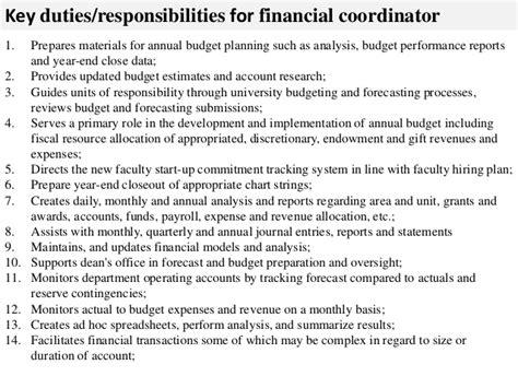 financial coordinator description