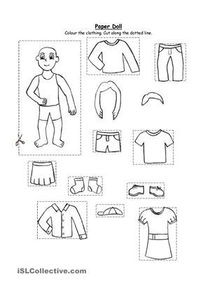images  weather  clothes worksheet