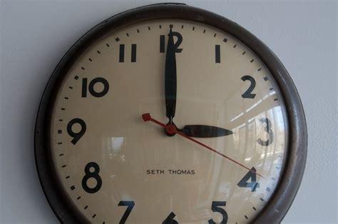 Vintage Futura Train Station Wall Clock