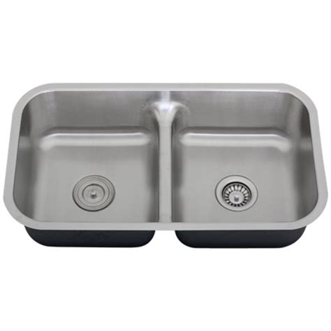 low divide kitchen sink ticor s1210 low divide undermount 16 gauge stainless steel