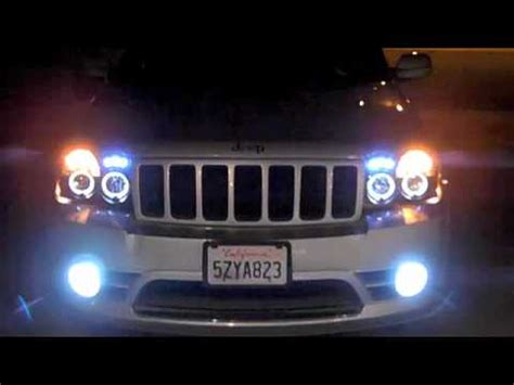 jeep srt8 halo projector headlights w 6000k hid s