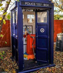 Tardis tool shed plans, garden shed electrical supply