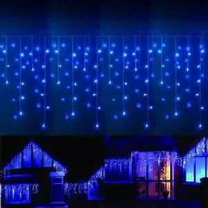 Guirlande Lumineuse Led Exterieur : guirlande led frise stalactite 16 m tres bleu ext rieur ~ Melissatoandfro.com Idées de Décoration