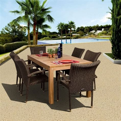 teak patio furniture sets beachfront decor