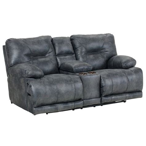 furniture power recliner catnapper voyager power lay flat reclining console