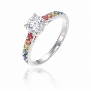 lgbt pride ring engagement wedding band sterling silver With wedding rings vegas