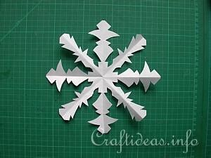 craft instructions    paper snowflakes