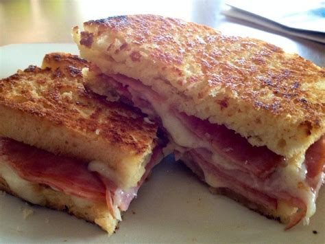 Served on our grilled light rye. Grilled ham and swiss on homemade white bread. : eatsandwiches