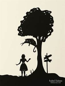 silhouette cheshire cat - Google Search | scherenschnitt ...