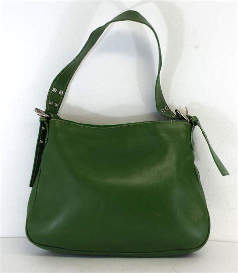 green leather shoulder bag fashion handbags