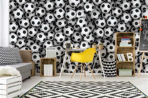 Tapisserie Football by Papier Peint Original Chambre Ado Ballons De Foot Izoa