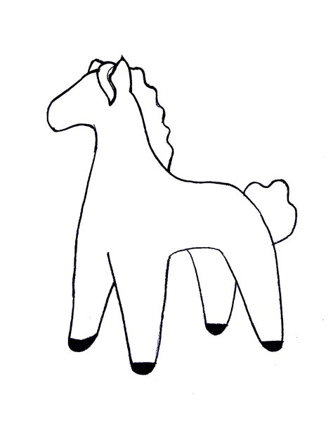 coloring page toy horse