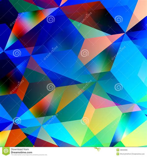 geometric abstract background blue mosaic pattern