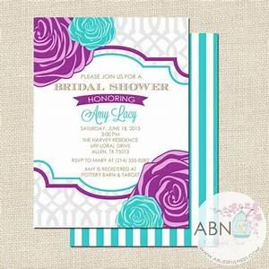 bridal shower invitation wedding shower invitation With purple wedding shower invitations